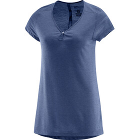 Salomon Ellipse Scoop Camisa Manga Corta Mujer, deep cobalt